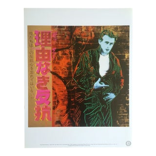 "Andy Warhol Estate Rare Collector's Lithograph Print ""James Dean - Rebel Without a Cause"" 1985"