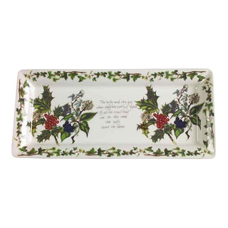 Portmeirion Holly & Ivy Rectangle Tray For Sale