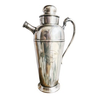 1930s Silver Plated Cocktail Shaker From United States Lines Oceanliner For Sale