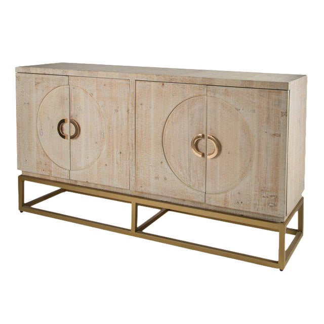 Toretto Sideboard With Gold Legs - Image 1 of 3