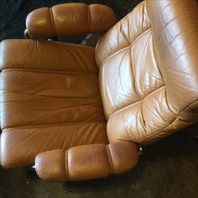 Ekrone Stressless Leather Recliner & Ottoman - Image 5 of 9