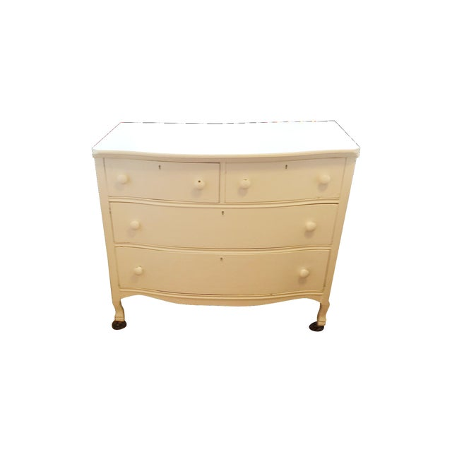 Painted White Wooden Dresser - Image 1 of 7
