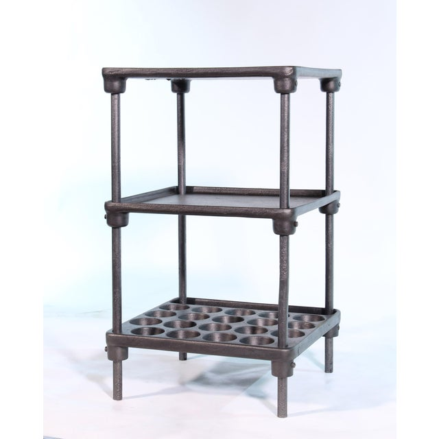 "1930s Cast Iron ""Muffin"" Side Table For Sale - Image 5 of 13"