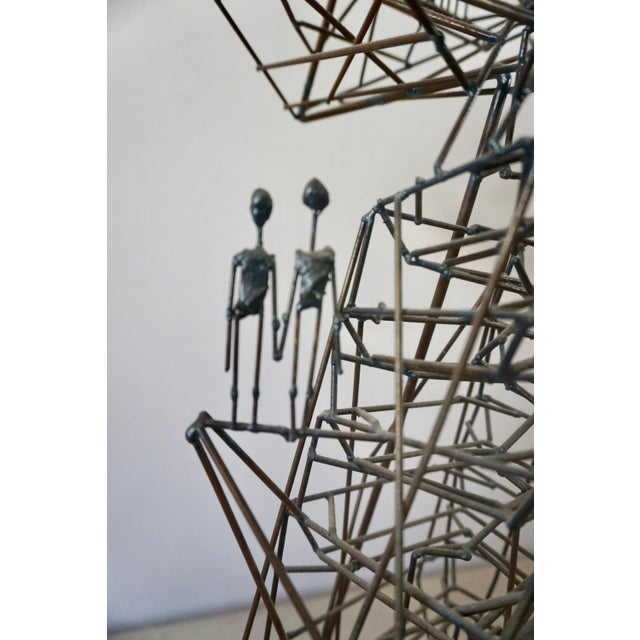 Guy Pullen Abstact Wire Sculpture by Guy Pullen For Sale - Image 4 of 9