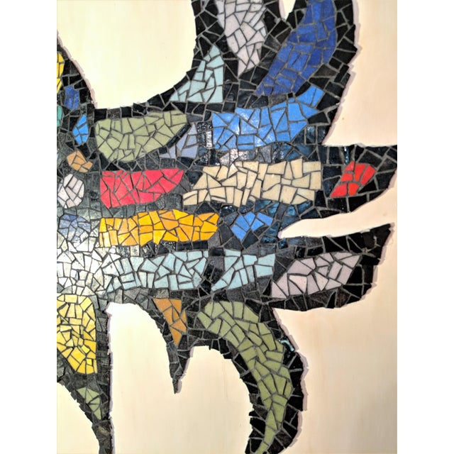 Mid-Century Modern Large Mosaic Rooster Wall Art For Sale - Image 3 of 11