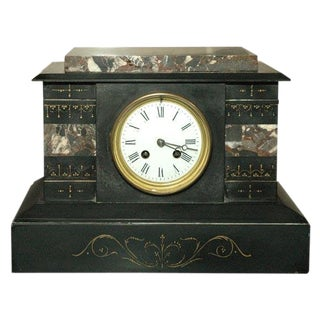 19th Century French Marble Clock For Sale