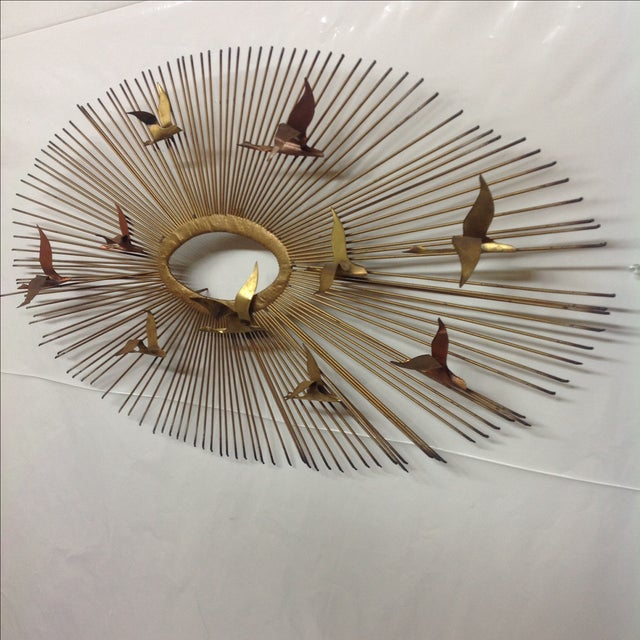 Mid-Century Modern Huge Bruce Freidle Sunburst With Geese For Sale - Image 3 of 3