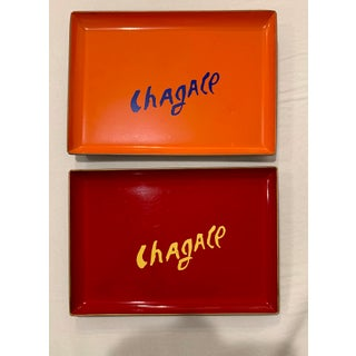 """Vintage """"Chagall"""" Lacquered Trays - a Pair Preview"""