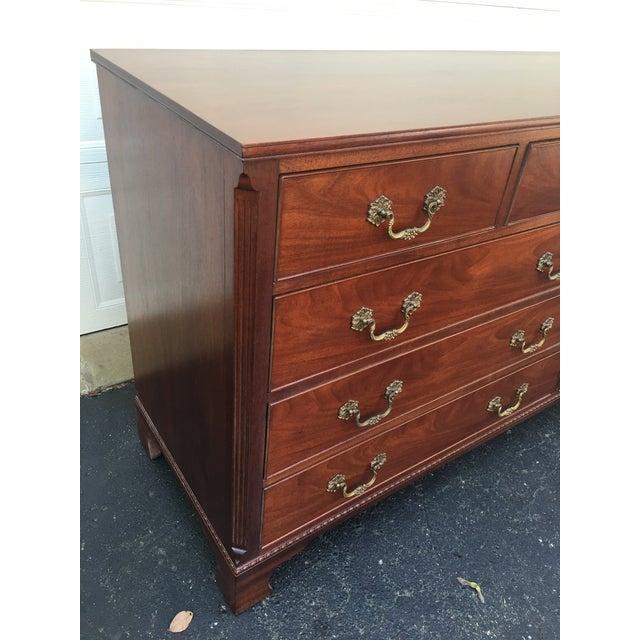 1940s Traditional Kittinger Mahogany 9-Drawer Dresser For Sale - Image 11 of 12
