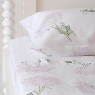 Peony Linen Sheet Set in Queen - 4 Pieces For Sale