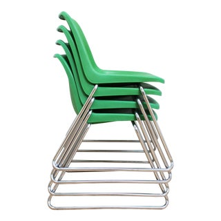 70s Charles Furey for Howell Molded Plastic Chairs - Stacking Shell Chairs For Sale