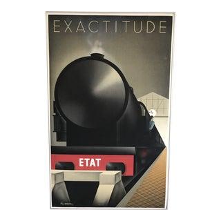 """Pierre Fix-Masseau """"Exactitude"""" Vintage Litograph 1982 For Sale"""