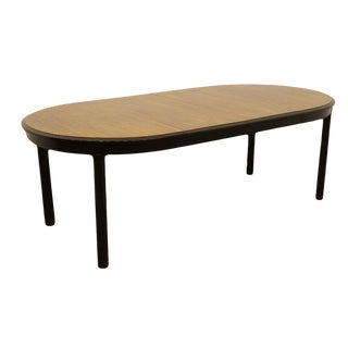 """Davis Cabinet Co. Solid Walnut 88"""" Oval Dining Table For Sale"""