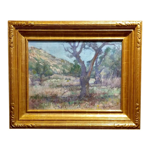 Charles Fries -Oaks & Hills Near Mussey Grade- California Oil Painting For Sale