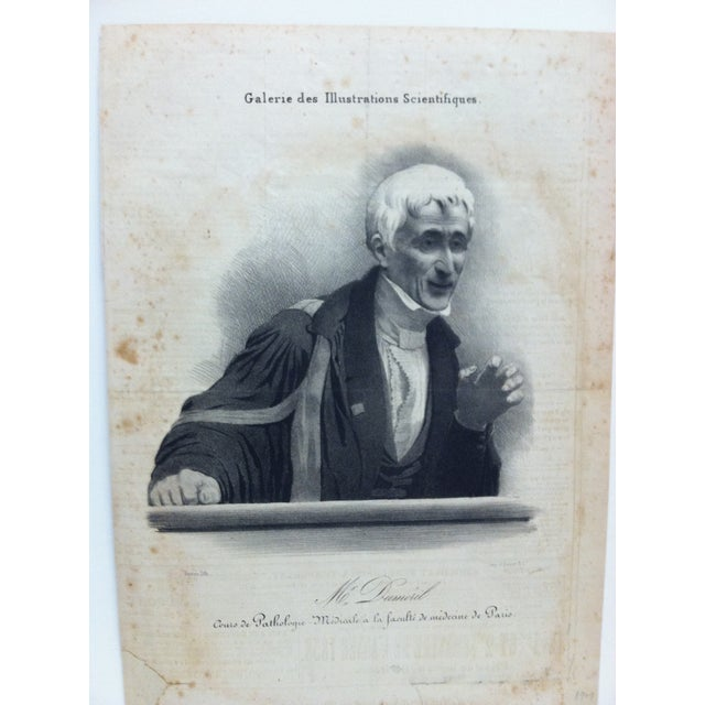 """This is a Vintage French Lithograph Print that is titled """"Mr. Dumeril"""" - Couis De Pathologie. The Print is ready for..."""