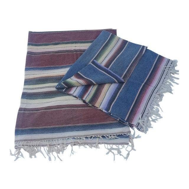 Mexican Serape Throws - A Pair - Image 1 of 4