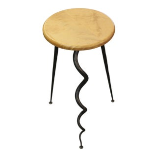 Dennis Proksa Signed Swivel Stool For Sale