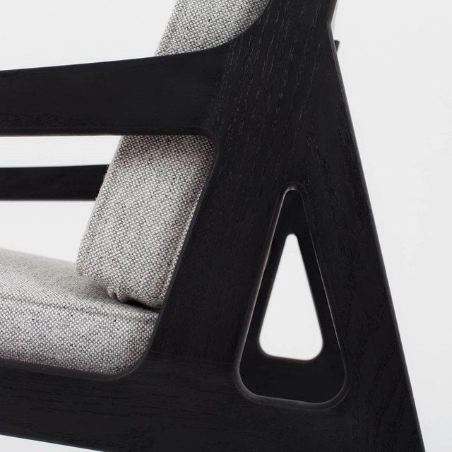 Asa Pingree Pilar Lounge Chair in Fog Gray Ash For Sale - Image 9 of 11