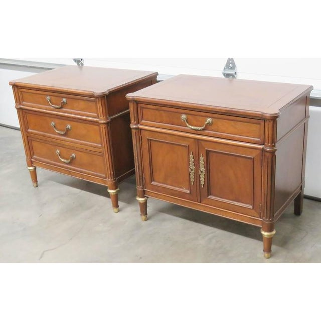 Companion Pair of Baker Nightstands For Sale In Philadelphia - Image 6 of 7