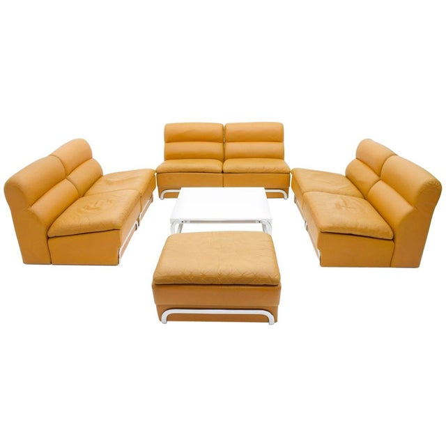 Modular Seating Group & Coffee Table Leather Sofa by Horst Brüning for Kill 1970 For Sale - Image 12 of 12