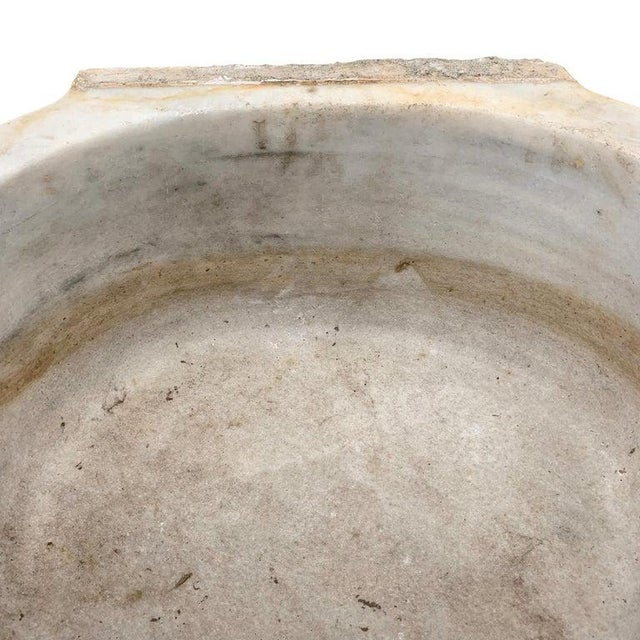 Stone 18th Century Turkish Hammam Marble Sink For Sale - Image 7 of 11