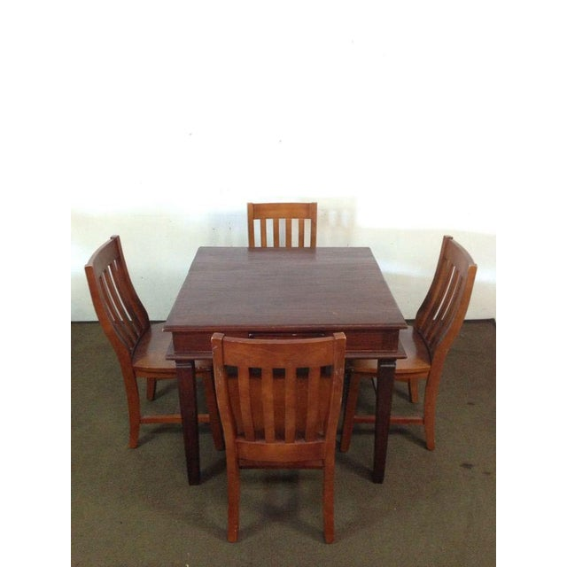 Vintage Carved Mahogany Games Table Suite - Image 2 of 6