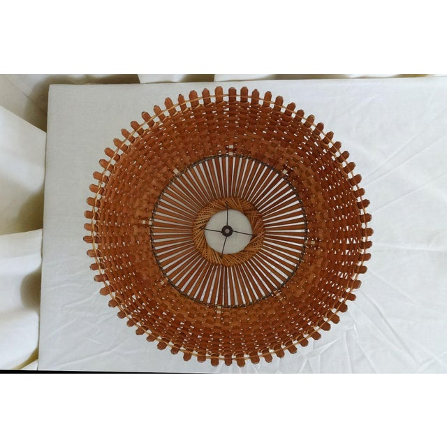1960s Mid Century Modern Bamboo/Rattan Lampshade For Sale In New York - Image 6 of 8