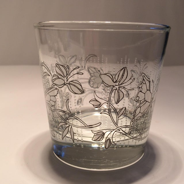 Vintage Butterfly Design Low Ball Glasses - Set of 6 - Image 3 of 11