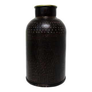 Distressed Metal Canister For Sale