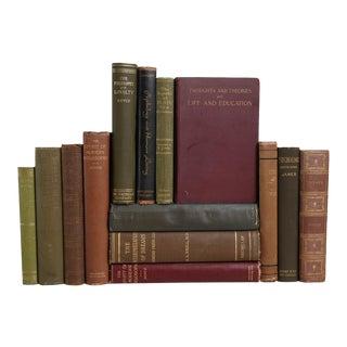 Vintage Philosophy Books - Set of 14 Decorative Books
