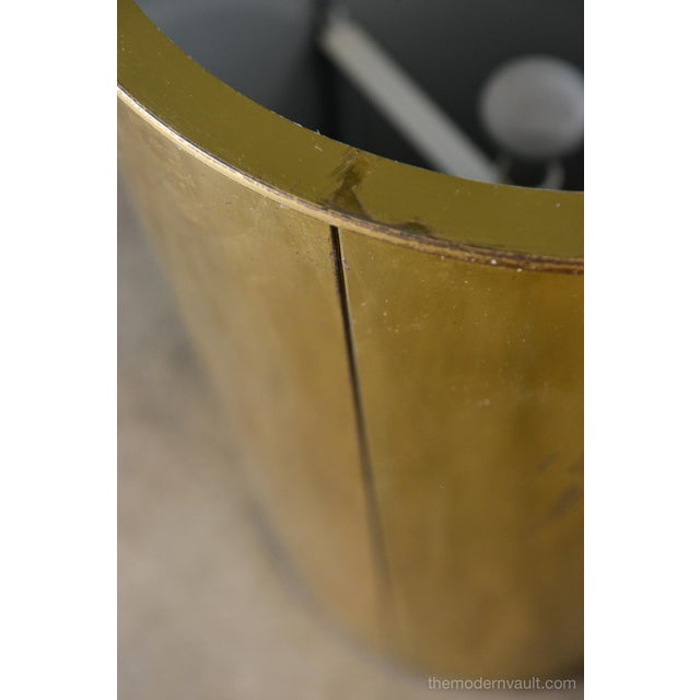 Brass 1980s Vintage Curtis Jere for Artisan House Illuminated Brass Pedestal Stand For Sale - Image 7 of 12