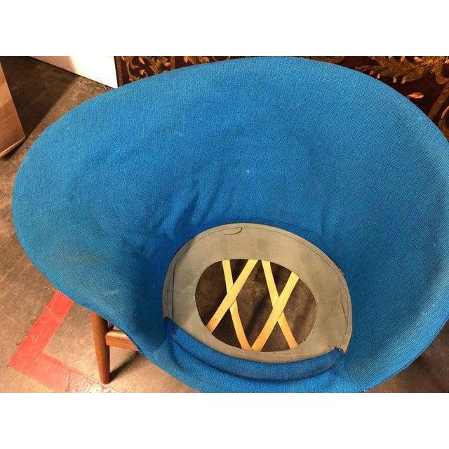 Mid-Century Modern Hans Olsen Fried Egg Chair With Teak Frame, Circa 1956 For Sale - Image 3 of 10