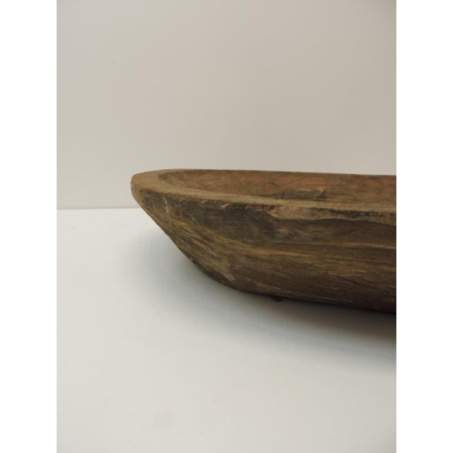 Boho Chic Mexican Round Hand Carved Rustic Bowl For Sale - Image 3 of 5