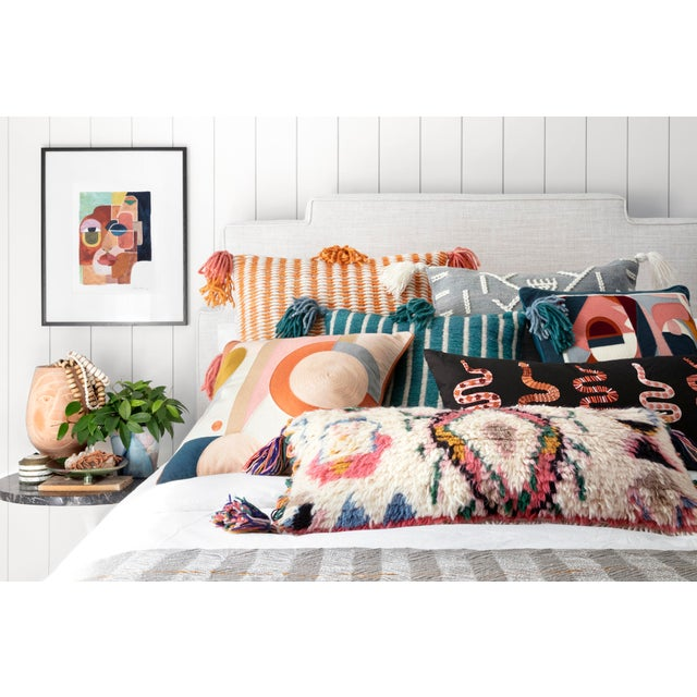 "Contemporary Justina Blakeney X Loloi Ivory / Multi 12"" X 27"" Cover with Down Pillow For Sale - Image 3 of 4"