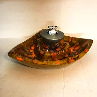Mid-Century Sputnik Table Lighter and Ceramic Ashtray Preview