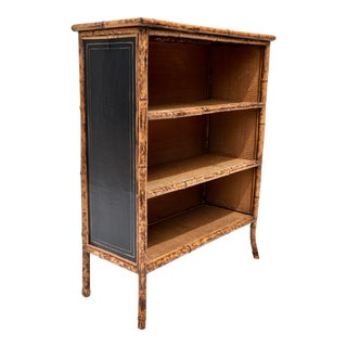 Early 20th Century Tortoise Bamboo Bookshelf or Etagere For Sale