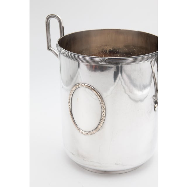 Mid 20th Century Vintage French Silver Plate Neoclassical Champagne Bucket For Sale In Houston - Image 6 of 12