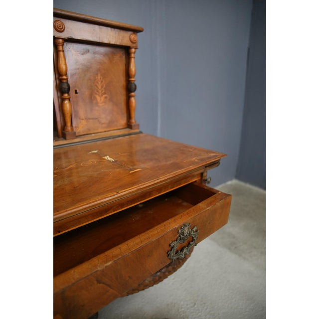 800 Desk Cabinet in Rosewood Inlaid Wood. For Sale - Image 4 of 11