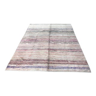 Turkish Tribal Handwoven Oversize Hemp Rug - 7′1″ × 9′5″