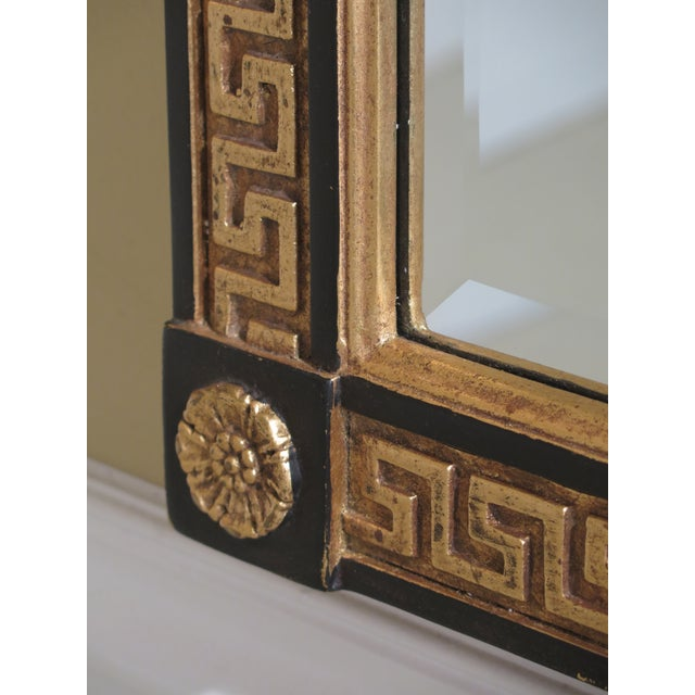 Friedman Brothers Neoclassical Style Black & Gold Mirror For Sale In Philadelphia - Image 6 of 10