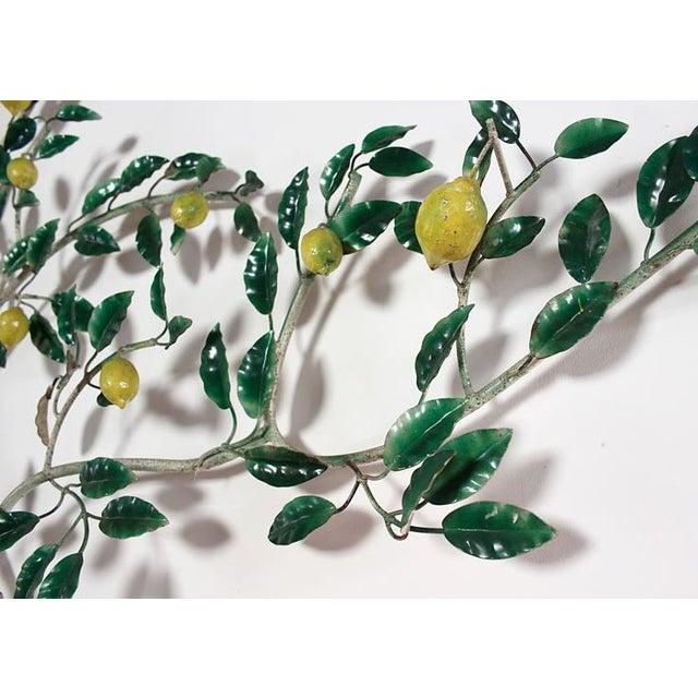 Vintage Italian Lemon Tree Tole Sculpture - Image 5 of 6