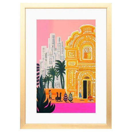 Bright South America Framed Art Print With White Mat & Gold Frame - Image 1 of 4