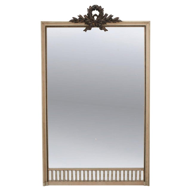 French 19th Century Tall Painted Mantle Mirror For Sale
