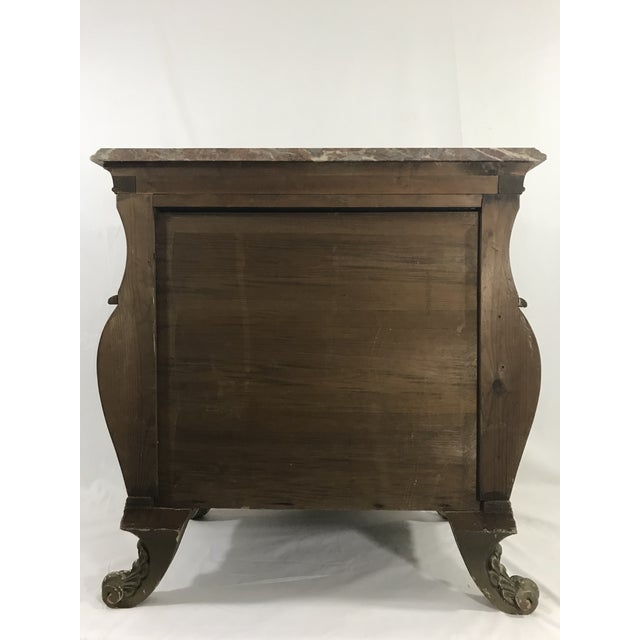 1950s Venetian Style Marble Topped Commode For Sale - Image 5 of 6
