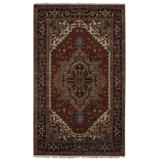 "Pasargad N Y Serapi Design Hand-Knotted Rug - 5'1"" X 8'3"" For Sale"