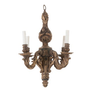 French 19th Century Louis XVI Wooden Chandelier For Sale