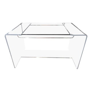 Lucite & Glass Lucite Waterfall Desk