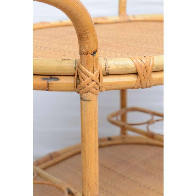 Tan Bamboo Bar Cart, Usa 1965 For Sale - Image 8 of 10