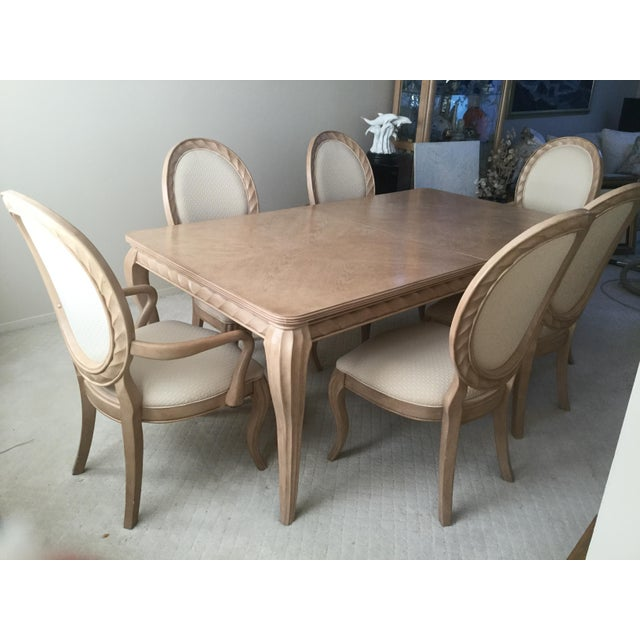 Bernhardt gorgeous Tuscan dining room set. Table and 6 Chairs. Mid to late 20th century. The lines are so beautiful and...
