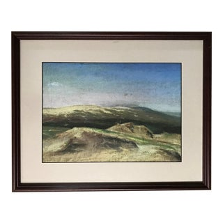 Landscape Drawing in Pastels For Sale